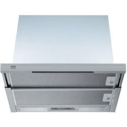 GRADE A1 - AEG DF6164-M 60cm Telescopic Semi-Integrated Cooker Hood with Stainless Steel Trim