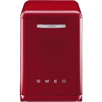 Smeg 50's Retro Style DF6FABRD 13 Place Freestanding Dishwasher - Red Best Price, Cheapest Prices