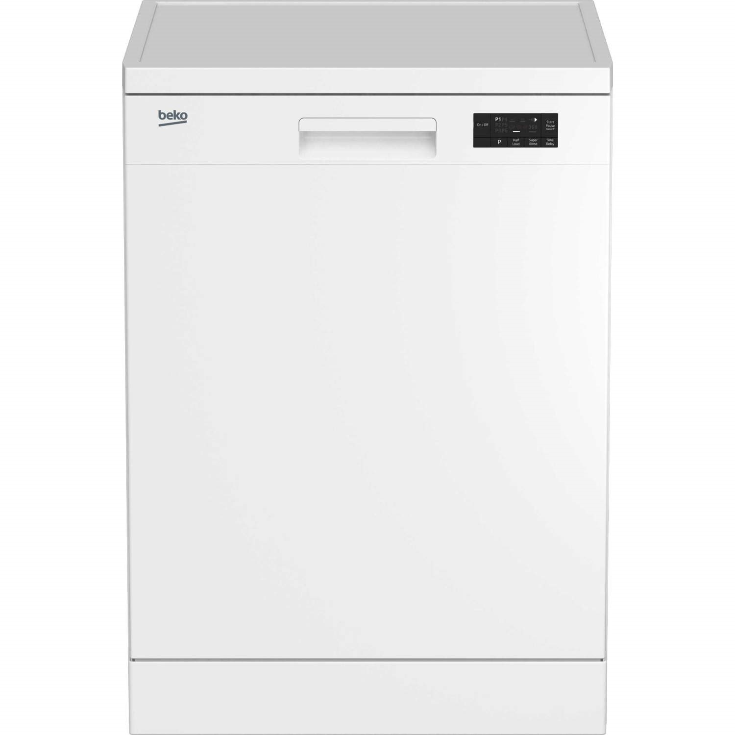 Beko Dfn16210w 12 Place Freestanding Dishwasher White