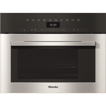 Miele ContourLine Touch Control Compact Combination Steam Oven - Clean Steel