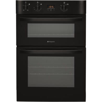 77249026/1/DH53KS GRADE A2 - Light cosmetic damage - Hotpoint DH53KS NewStyle Ciculaire Electric Built In Double Oven Black