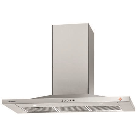 De Dietrich DHP7912X 90cm Pyramid Slim Hood 802m3h Extraction Rate -  Inox