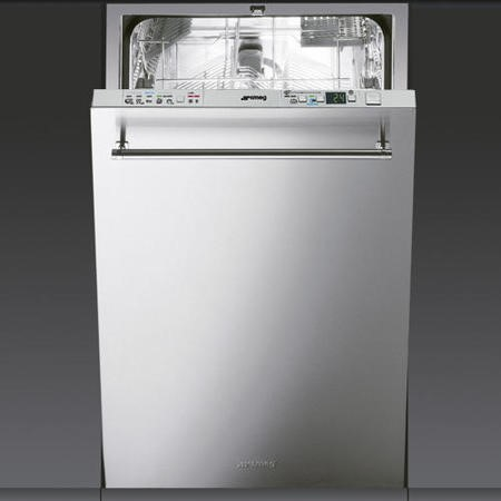Smeg DI45CL 45cm Slimline 10 Place Fully Integrated Dishwasher With Classic Stainless Steel Door Pan