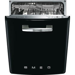 Smeg DI6FABBL 13 Place Fifties Style Integrated Dishwasher With Black Door