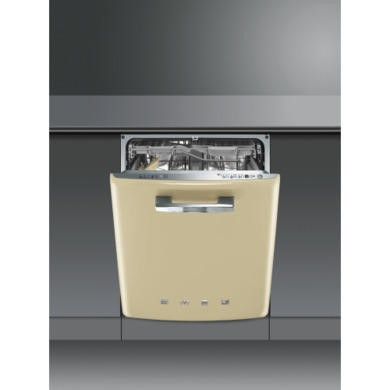 DI6FABP2 Smeg DI6FABP2 Fifties Style Integrated Dishwasher With Cream Door