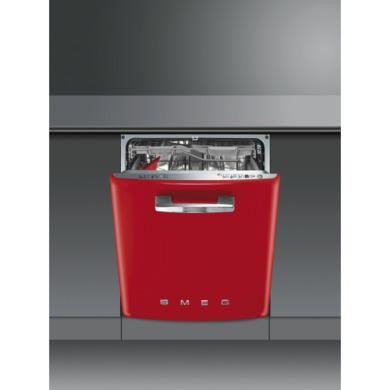 DI6FABR2 Smeg DI6FABR2 Fifties Style Integrated Dishwasher With Red Door
