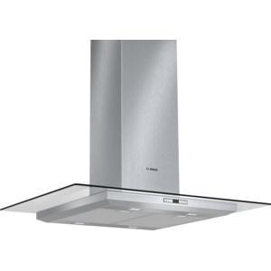 Bosch DIA098E50B Exxcel 90cm Brushed Steel Island Cooker Hood With Flat Glass Canopy
