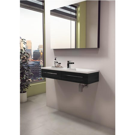 Blanco Walnut Wall Mount Basin Vanity Unit - Includes Basin - 995mm