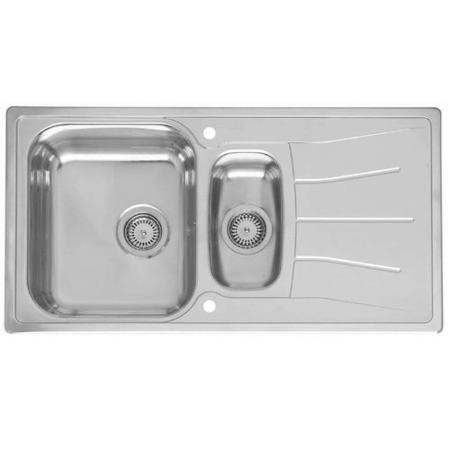 Reginox DIPLOMAT1.5 1.5 Bowl Reversible Inset Stainless Steel Sink