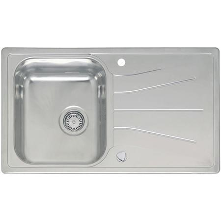 Reginox DIPLOMAT10-ECO-S 1.0 Bowl Reversible Inset Stainless Steel Sink