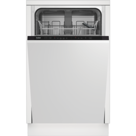 GRADE A1 - Beko DIS15012 10 Place Slimline Fully Integrated Dishwasher