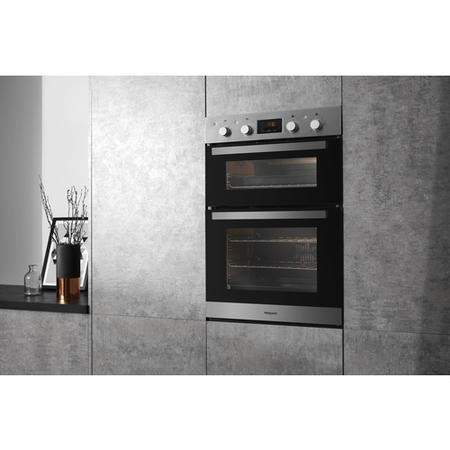 Hotpoint DKD3841IX Multifunction Electric Built In Double Oven - Stainless Steel