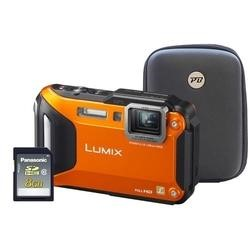 Panasonic DMC-FT5 3D Orange Camera Kit inc 8GB Class 10 SD Card and Hard Case