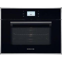 De Dietrich DOM1195B Compact Height Built-in Combination Microwave Oven Black Pearl