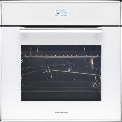 De Dietrich DOP1170W Touch Control Multifunction Electric Oven With Pyroclean White Pearl