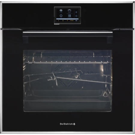 De Dietrich DOP1190B Touch Screen Multifunction Electric Oven With Pyroclean Black Pearl
