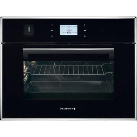 De Dietrich DOS1195B Touch Control Compact Height Steam Oven Black Pearl