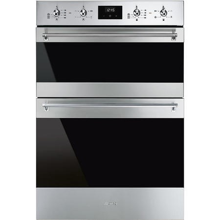 Smeg DOSF6300X Classic Multifunction Electric Built In Double Oven - Stainless Steel