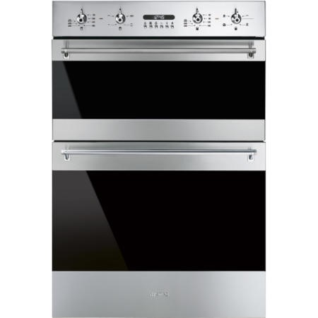 GRADE A1 - Smeg DOSF634X Classic Multifunction Electric Built In Double Oven Stainless Steel