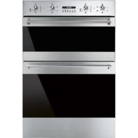 Smeg DOSF634X Classic Multifunction Electric Built In Double Oven Stainless Steel