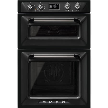 Smeg DOSF6920N1 Victoria Traditional Multifunction Double Oven - Black
