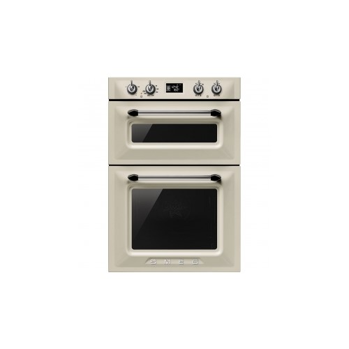 Smeg DOSF6920P Victoria Electric Built in Double Multifunction Oven Cream
