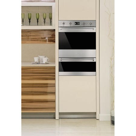 GRADE A2 - Smeg DOSP6390X 60cm Electric Built- in Multifunction Double Oven Stainless Steel