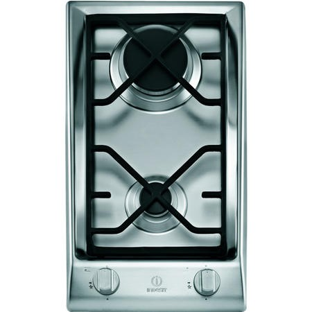 Indesit Dp2gs 29cm Two Burner Gas Hob Stainless Steel