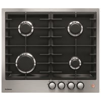 De Dietrich DPE7620XF 60cm 4 Burner Gas Hob with Cast Iron Pan Supports - Stainless Steel