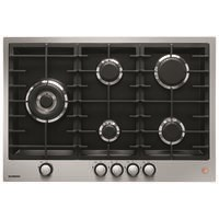 De Dietrich DPE7729XF 72cm 5 Burner Gas Hob with Cast Iron Pan Supports - Stainless Steel