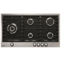 De Dietrich DPE7929XF 90cm 5 Burner Gas Hob with Cast Iron Pan Supports - Stainless Steel