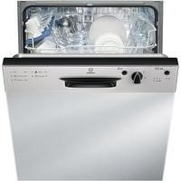 Indesit DPG15B1NX 13 Place Semi-integrated Dishwasher - Stainless Steel Control Panel