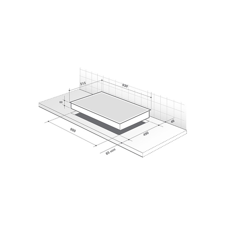 De Dietrich DPI7969XS 90cm 3 Horizones Induction Hob Slide System 6  Functions - Black | Appliances Direct