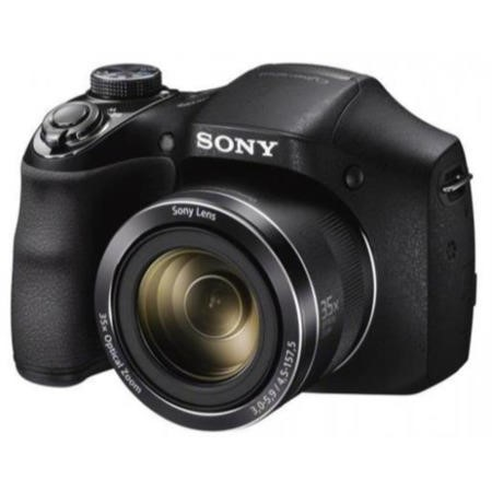 Sony DSC-H300 Camera Black 20.1MP 35xZoom 3.0LCD FHD 27.2mm Wide Lens