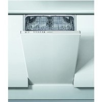 INDESIT DSIE2B10 10 Place Slimline Fully Integrated Dishwasher with Quick Wash - White Best Price, Cheapest Prices