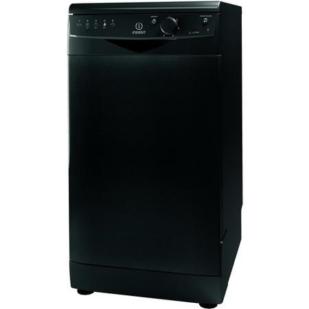 Indesit DSR15B1K 10 Place Slimline Freestanding Dishwasher - Black