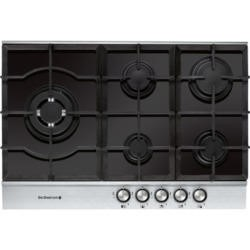 De Dietrich DTG1175X 72cm Wide Five Burner Gas-on-glass Hob With Stainless Steel Trim
