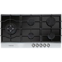De Dietrich DTG1195X 90cm Wide Five Burner Gas-on-glass Hob With Stainless Steel Trim