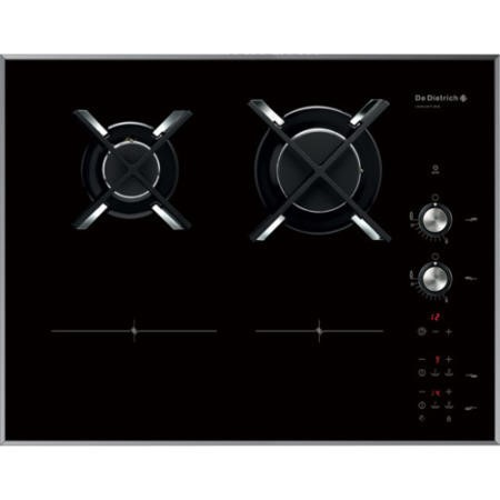de dietrich dti1102v 65cm dual fuel induction gas hob in. Black Bedroom Furniture Sets. Home Design Ideas