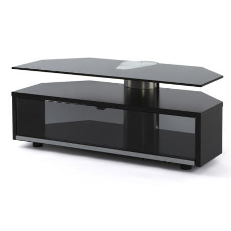 Off The Wall Duo 1000 Black TV Cabinet - Up to 55 Inch