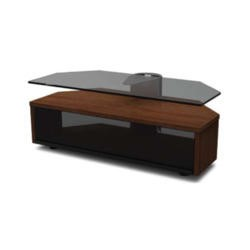 Off The Wall Duo 1000 Walnut TV Cabinet - Up to 55 Inch