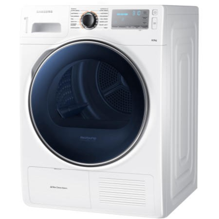 Samsung DV80H8100HW 8kg Freestanding Heat Pump Condenser Tumble Dryer White