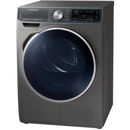Samsung DV90N8288AX QuickDrive 9kg Freestanding Heat Pump Tumble Dryer With Optimal Dry - Graphite W