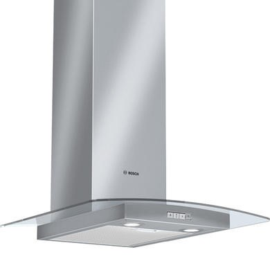 Bosch DWA06W451B Classixx Curved Glass 60cm Chimney Hood in Brushed steel