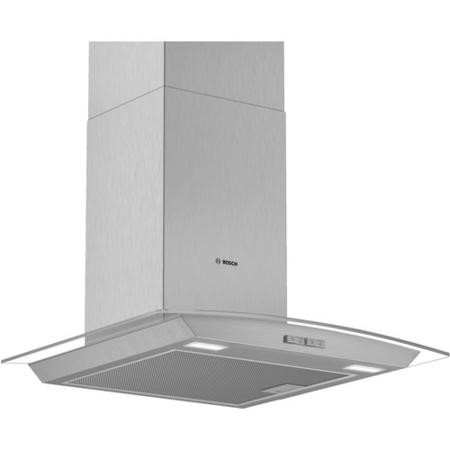 Bosch DWA64BC50B Serie 2 60cm Chimney Cooker Hood - Stainless Steel With Curved Glass Canopy