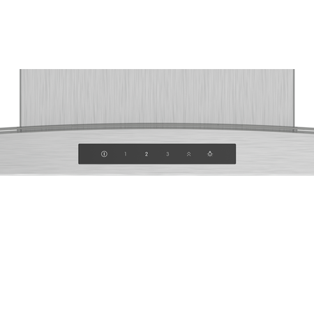Bosch DWA96DM50B Serie 4 Touch Control 90cm Chimney Cooker Hood - Stainless Steel With Curved Glass Canopy