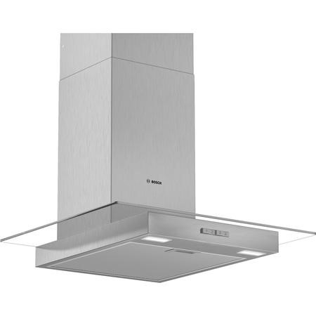 Bosch DWG64BC50B Serie 2 60cm Chimney Cooker Hood - Stainless Steel With Flat Glass Canopy