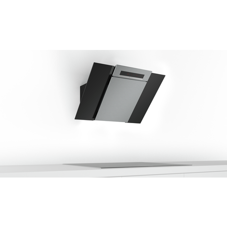 Bosch DWK87BM60B Touch Control 80cm Angled Cooker Hood - Stainless Steel And Black Glass