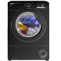 Hoover DXC9DGB Dynamic Next 9kg Freestanding Condenser Sensor Tumble Dryer - Black With Black Glass