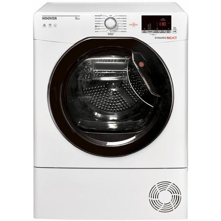 Hoover DXC9DKE Dynamic Next Aquavision 9kg Freestanding Condenser Sensor Tumble Dryer With One Touch